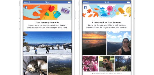 Facebook - Coleção de memórias - Reprodução - Reprodução