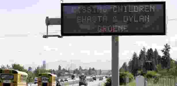 Letreiros em estradas alertaram sobre o desaparecimento de Shasta e Dylan   - 25.mai.2005 - Jeff T. Green/Getty Images - 25.mai.2005 - Jeff T. Green/Getty Images