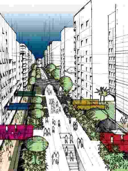 O prefeito Bruno Covas (PSDB), anunciou que o Minhocão será desativado e transformado em parque. - Prefeitura de São Paulo