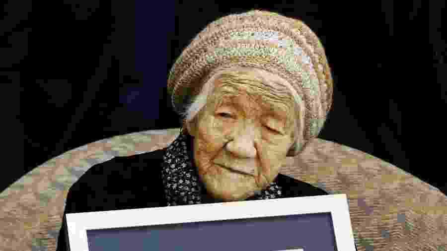 Kane Tanaka foi certificada pelo Google como a pessoa mais velha do mundo - Kyodo/Reuters