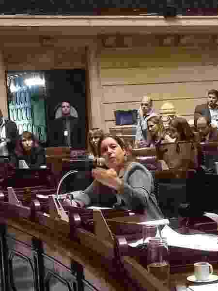 21.mai.2019 - A controladora-geral do Rio, Márcia Andrea Peres, depõe em processo de impeachment de Marcelo Crivella (PRB) - Gabriel Sabóia/UOL
