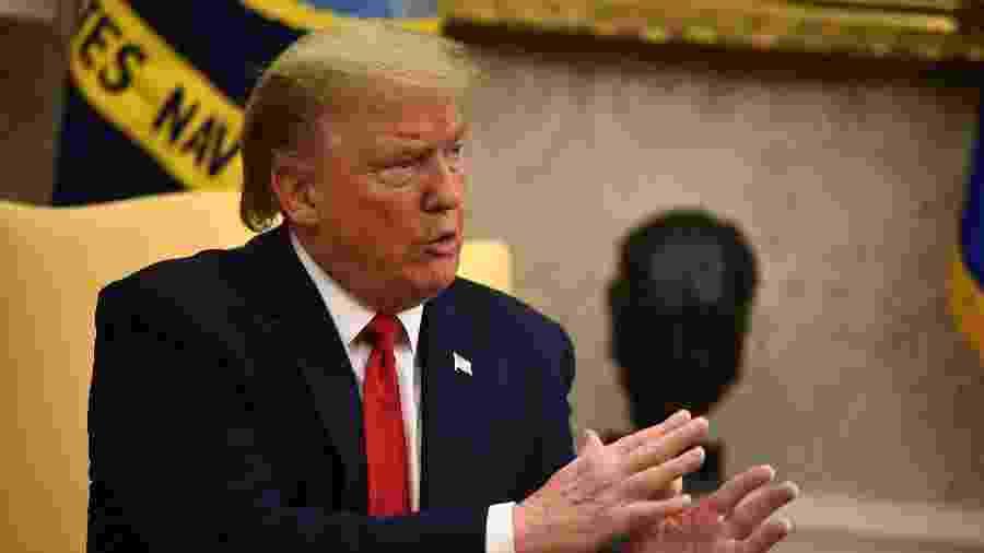 Donald Trump, presidente dos Estados Unidos, na Casa Branca - Brendan Smialowski / AFP
