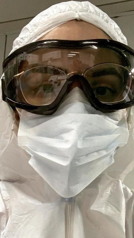 Marina mostrou seu equipamento de proteção no Instagram - Reprodução/Instagram