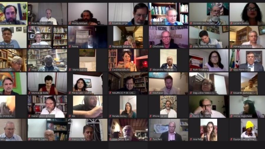 """Políticos e personalidades participam de movimento virtual em defesa da democracia """"Direitos já"""" - Reprodução"""