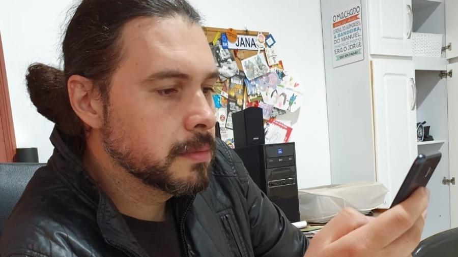 Professor Victor Lopes Mausano Brasil não usa WhatsApp - Acervo pessoal