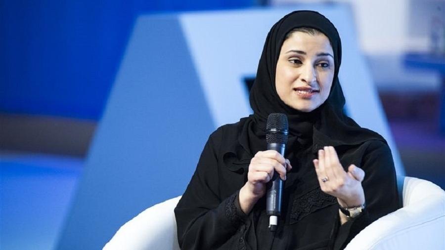Sarah al-Amiri, 33, ministra das Tecnologias Avançadas dos Emirados Árabes Unidos e líder da missão Esperança  - Reprodução/Twitter/UAE Embassy US