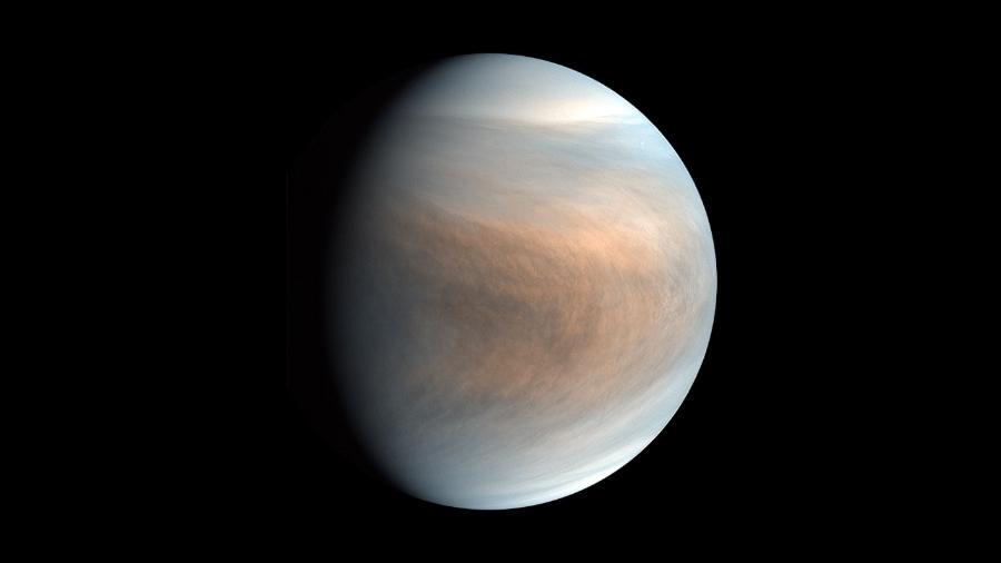 Planeta Vênus em imagem da sonda japonesa Akatsuki - JAXA/ISAS/DARTS/Damia Bouic