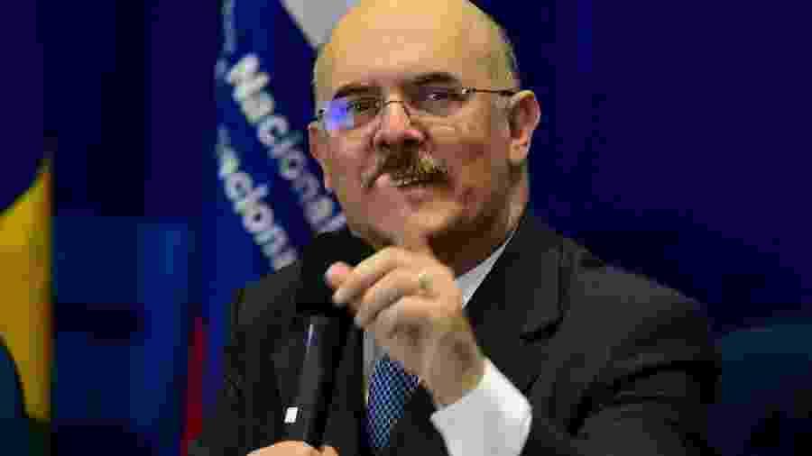 O ministro da Educação, Milton Ribeiro, durante anúncio dos resultados do Ideb e do Saeb 2019 - Cláudio Reis/Framephoto/Estadão Conteúdo