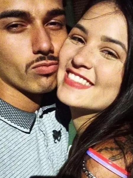 O casal Adailton Gomes e Nicole Maria - Arquivo Pessoal
