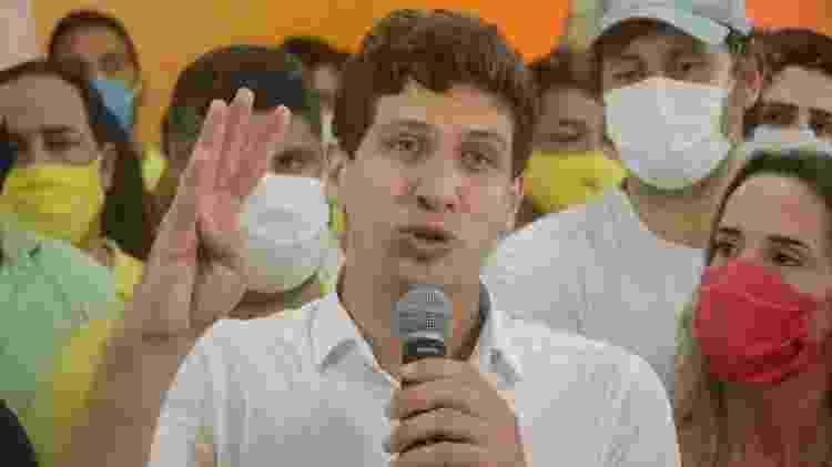 João Campos em primeiro pronunciamento após ser eleito - Beto Macário/UOL - Beto Macário/UOL