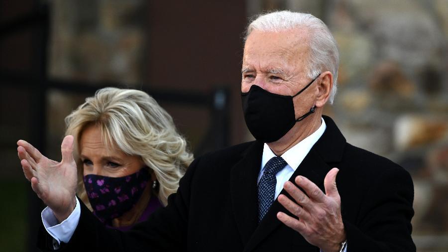 Joe Biden e Jill Biden estão casados há mais de 40 anos - JIM WATSON/AFP