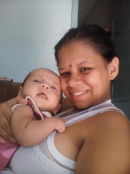Sameque Góis, de 22 anos, perdeu a filha Sarah Vitória na madrugada de ontem - Reprodução/Arquivo Pessoal