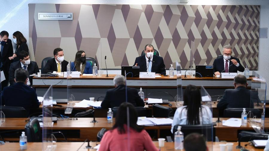 Sessão da CPI da Covid - Edilson Rodrigues/Edilson Rodrigues/Agência Senad