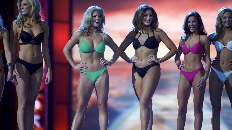 Modelos participam do concurso Miss América 2016 - Mark Makela/Reuters