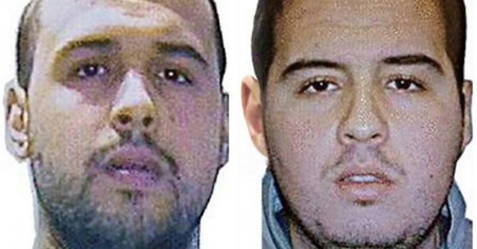 23.mar.2016 - A Interpol divulgou fotos dos irmãos Khalid (à esquerda) e Ibrahim (à direita) El Bakraoui, kamikazes dos ataques terrorista na Bélgica