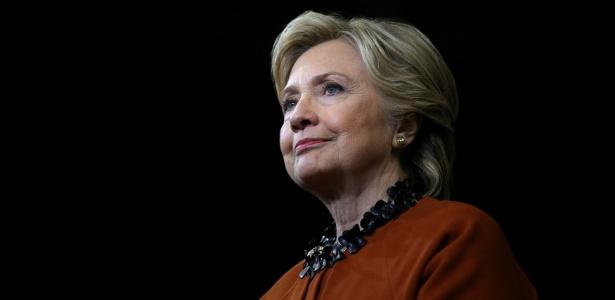 A candidata democrata Hillary Clinton durante campanha na Carolina do Norte, EUA