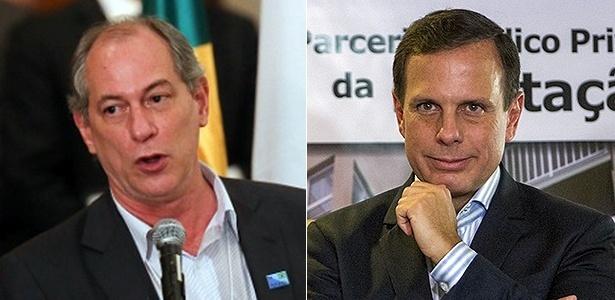 Ciro Gomes (à esq) criticou João Doria, que pediu respeito