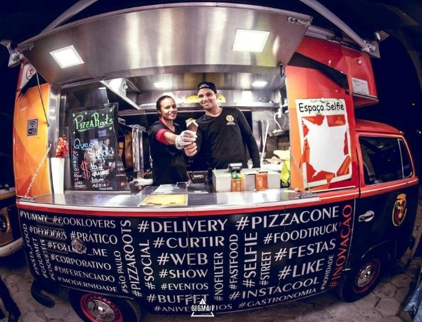 Food truck da franquia Pizza Roots