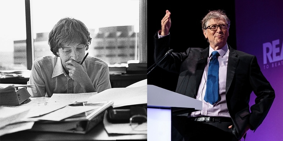 Bill Gates na juventude e na atualidade, como filantropo
