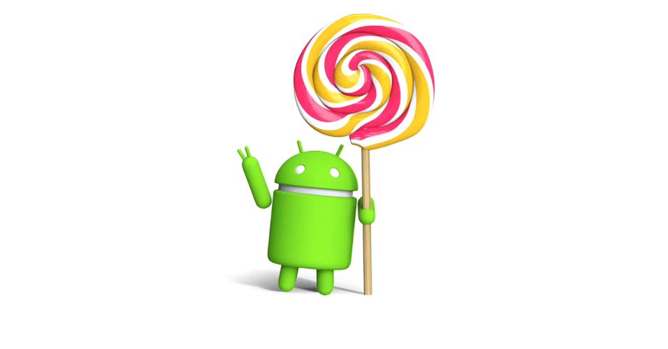 Logo do Android 5.0 ao 5.1.1 (Lollipop), lançado em 12 de novembro de 2014