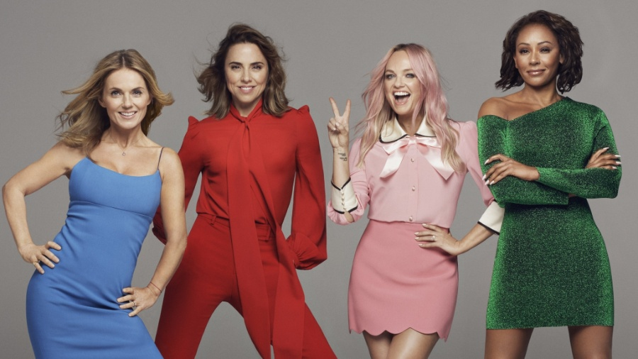 Foto das Spice Girls em 2018, agora sem Victoria Beckham -  Reprodução/Twitter