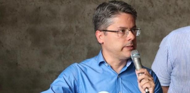 27.set.2018 - Alessandro Vieira discursa durante campanha ao Senado - Reprodução/Facebook/Alessandro Vieira