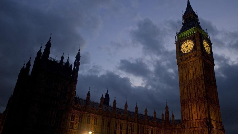 Vista do Big Ben, relógio símbolo de Londres, localizado no Palácio de Westminster - KIERAN DOHERTY/REUTERS
