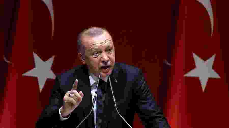Turquia, do presidente Erdogan, afirmou que os Emirados querem que o acordo pareça um sacrifício pelos palestinos - Adem Altan/AFP