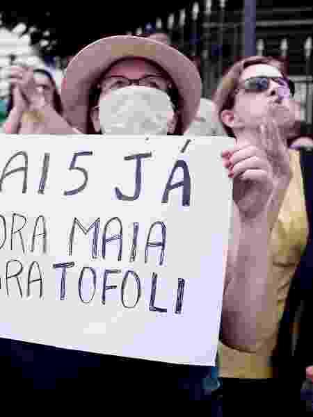Entre as manifestações de ódio, estão pedidos pela volta do AI-5, que remete ao período mais violento da ditadura militar no Brasil - Ettore Chiereguini/Futura Press/Estadão Conteúdo