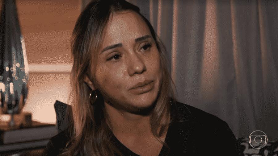 """Patrícia Hellen Guimarães Ramos, mãe da adolescente Isabele Guimarães Ramos, morta pela amiga, dá entrevista ao """"Fantástico"""" - Reprodução/TV Globo"""