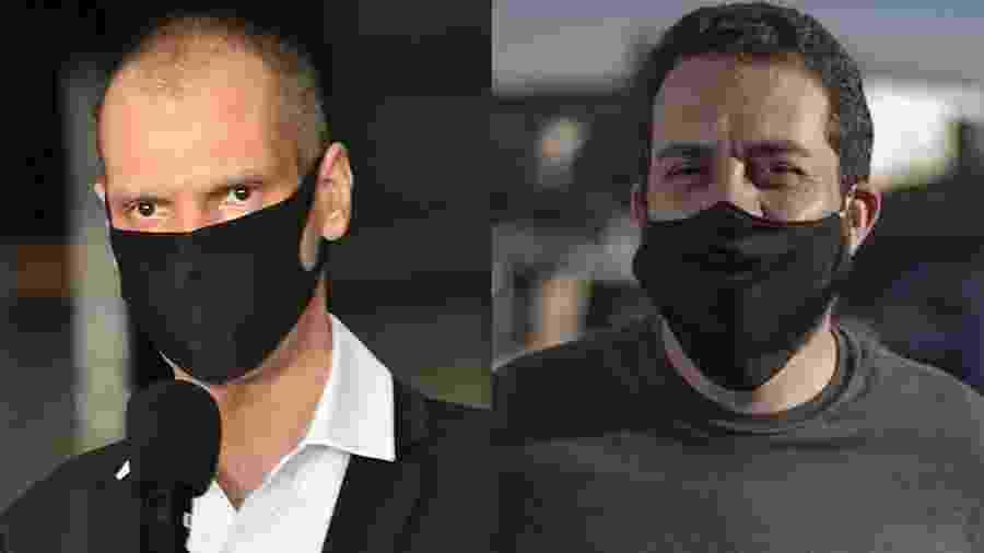 Bruno Covas (PSDB) e Guilherme Boulos (PSOL) fecharam coligações de última hora em SP - Arte/UOL