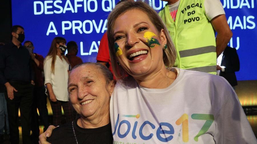 27.set.2020 - A deputada Joice Hasselmann (PSL-SP) durante lançamento de sua candidatura à prefeitura de São Paulo - RENATO S. CERQUEIRA/FUTURA PRESS/ESTADÃO CONTEÚDO