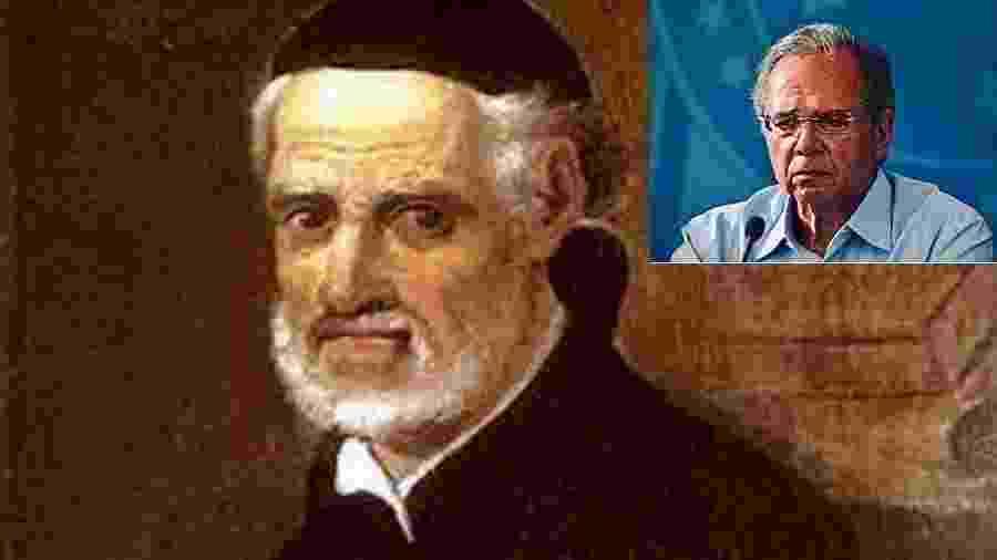 """Padre Vieira, que escreveu """"Sermão de Santo Antônio aos Peixes"""". Não poderia adivinhar que um dia haveria aquele que pregaria aos tubarões. No destaque, Paulo Guedes - Reprodução"""