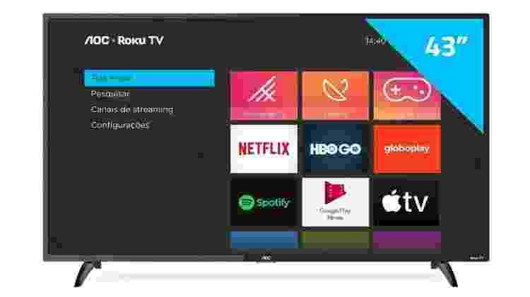 """Smart TV LED 43"""" Full HD AOC - Divulgação - Divulgação"""