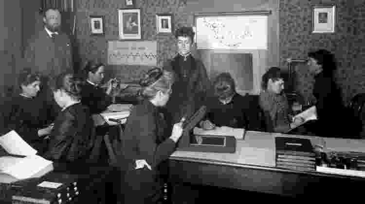 O astrônomo Edward Pickering e as mulheres que eram chamadas de 'computadores' de Harvard - Alamy - Alamy
