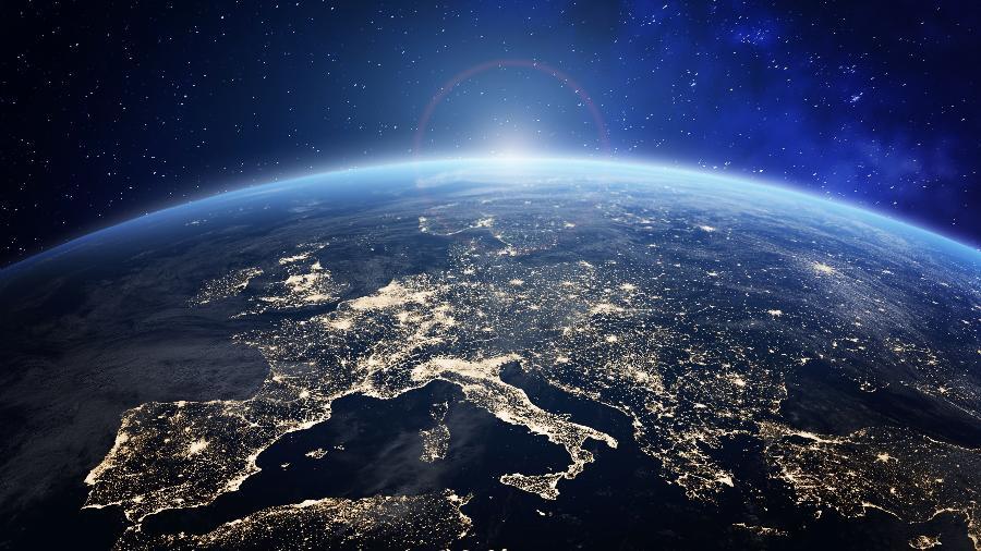 Planeta Terra visto do espaço  - Getty Images