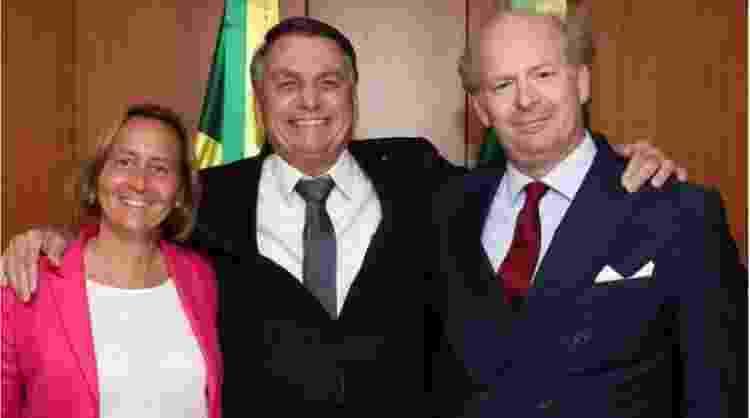 Beatrix von Storch e Bolsonaro - Reprodução/Instagram - Reprodução/Instagram