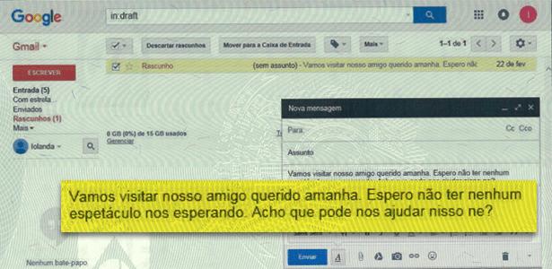 Uma das mensagens trocadas entre Dilma e Monica Moura, segundo a delatora