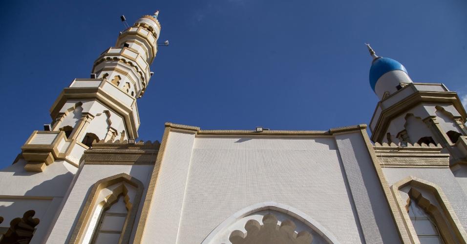 7.jun.2017 - A fachada da Mesquita Brasil, a mais antiga do país, junto da avenida do Estado, na região central de São Paulo