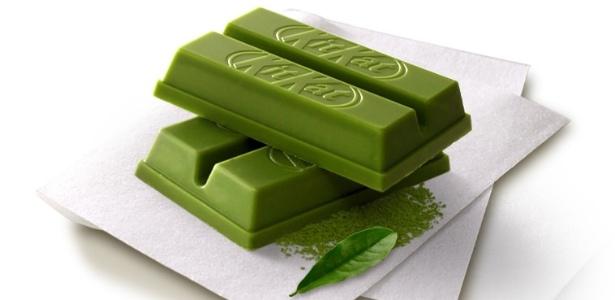Kit Kat sabor chá verde vendido no Japão - Divulgação