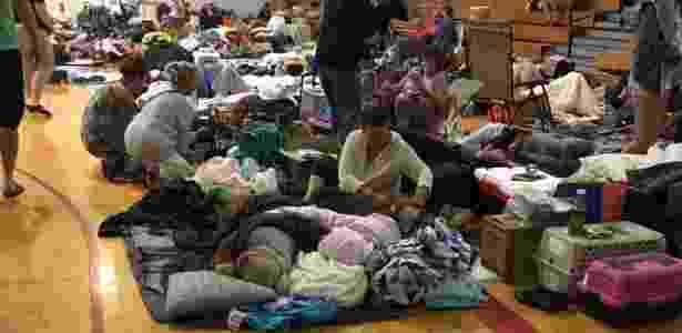Moradores de Key West buscam abrigo do furacão em escolas da Flórida - Jeane LaRance/via Reuters