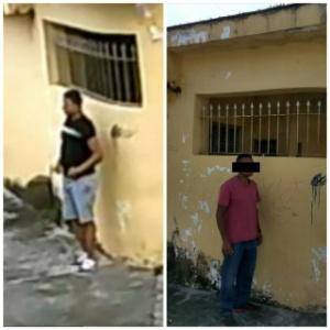 À esquerda, criminoso que estuprou jovem flagrado em vídeo; à direita, PM que era considerado suspeito pela Polícia Civil
