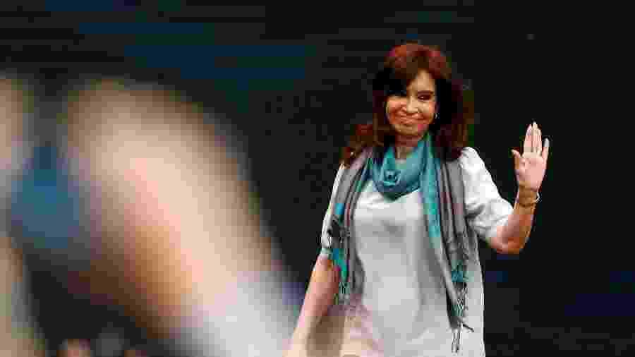 19.nov.2018 - A ex-presidente da Argentina Cristina Kirchner participou do 1º Fórum Mundial de Pensamento Crítico, realizado em Buenos Aires (Argentina) - Martin Acosta/Reuters