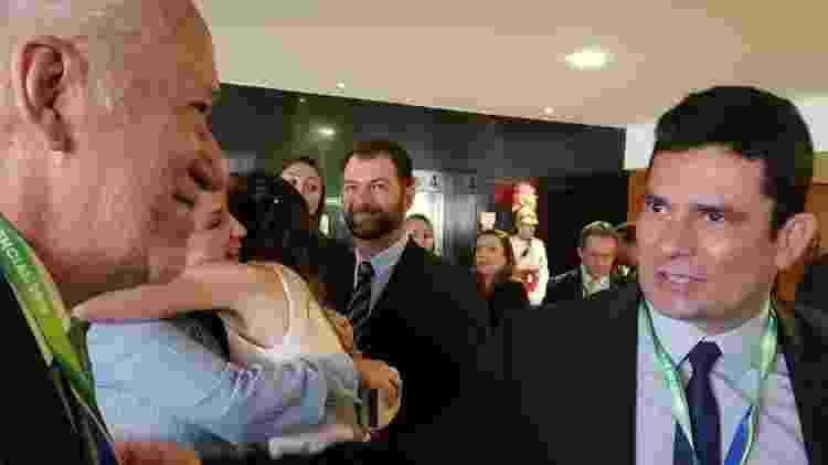 Alexandre Garcia e o ministro Sergio Moro, em foto no Palácio do Planalto  - Reprodução/Twitter/alexandregarcia - Reprodução/Twitter/alexandregarcia
