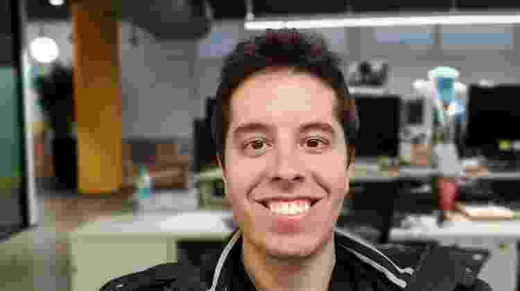 Selfie com o foco dinâmico ativado no Galaxy Note 10+ - Gabriel Francisco Ribeiro/UOL