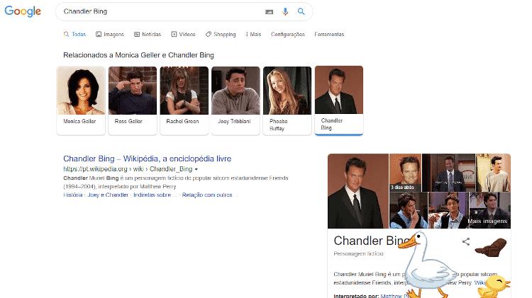 chandler bing - reprodução/Google - reprodução/Google