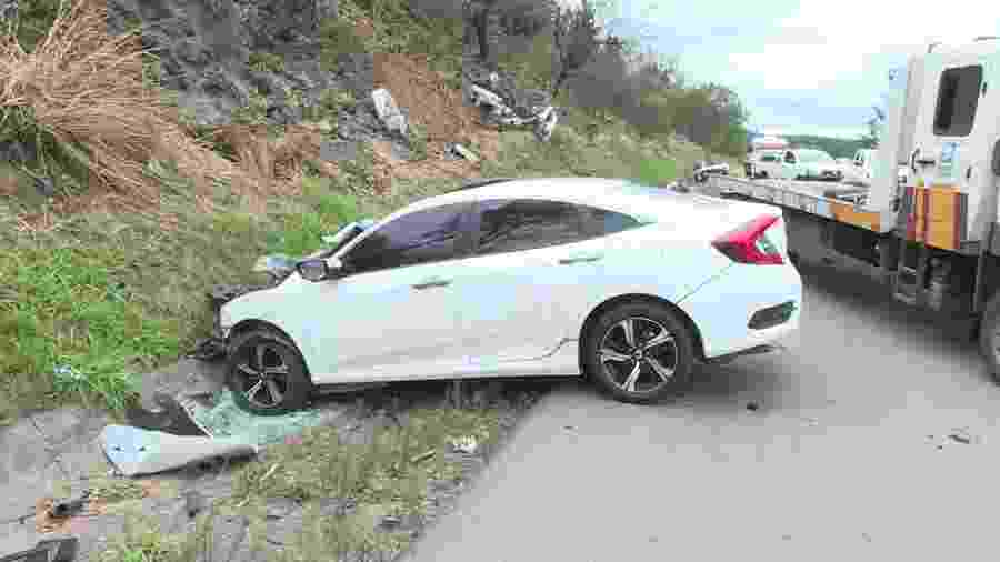 Engavetamento entre 4 veículos na rodovia Castello Branco deixou 3 mortos - Reprodução/TV Globo