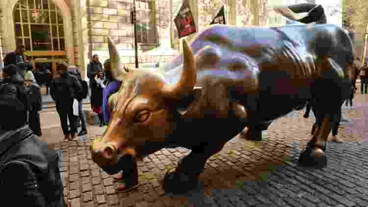 Touro de Wall Street, em Nova York (EUA) - Spencer Platt/Getty Images/AFP