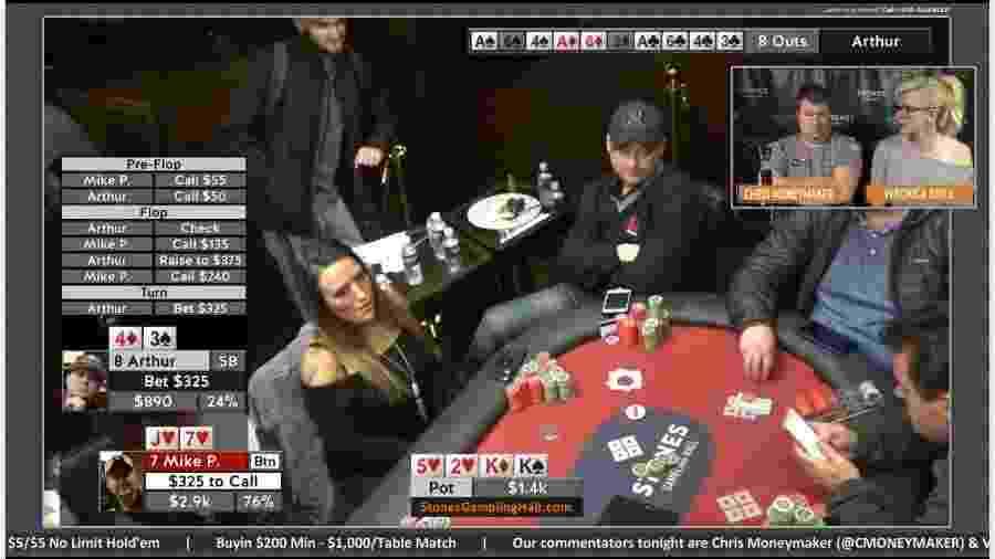 Mike Postle (de boné), jogador de pôquer online que está sendo acusado de fraude - Reprodução/Twitch