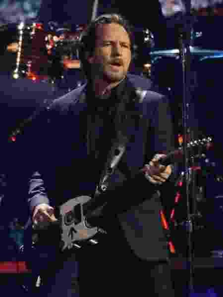 Eddie Vedder, do Pearl Jam, durante show em Nova York - Lucas Jackson